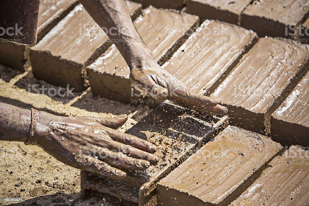 Brick industry stock photo
