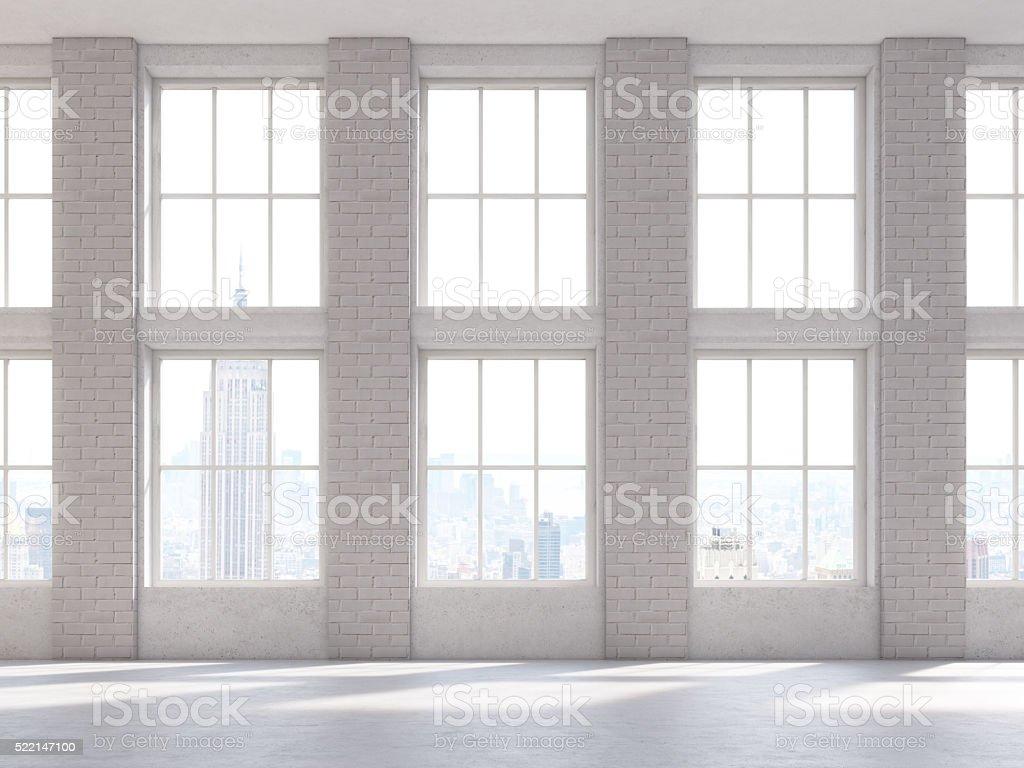 Brick interior front stock photo