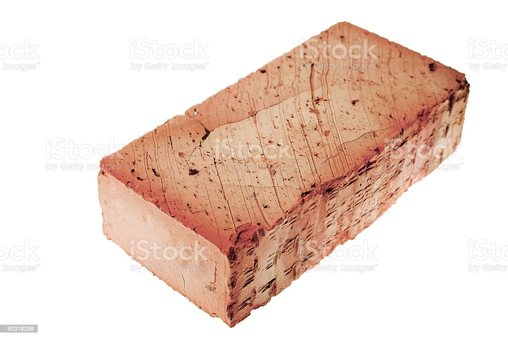 brick isolated stock photo