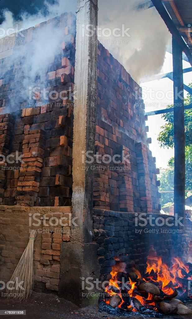 Brick kiln stock photo