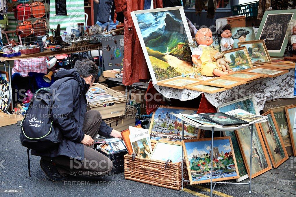 Brick Lane Antique Stall stock photo