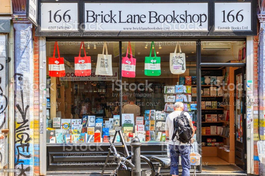 Brick lane bookshops, an independent retailer in Shoreditch stock photo