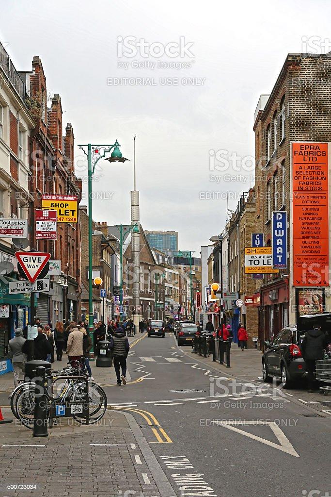 Brick Lane London stock photo