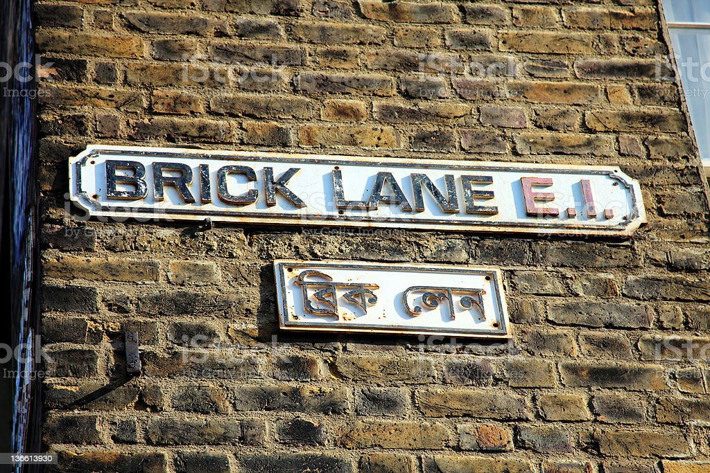 Brick Lane Sign royalty-free stock photo
