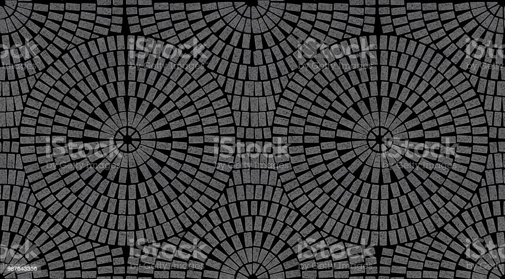 Brick Laying Radial Patterns In Patio Paving Stock Photo More