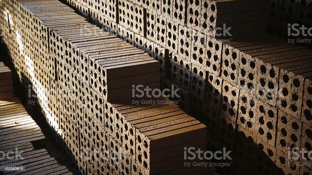 Brick line stock photo