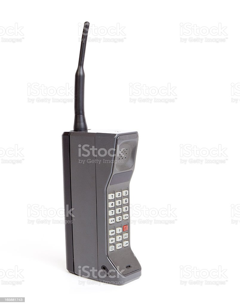 Brick mobile phone stock photo