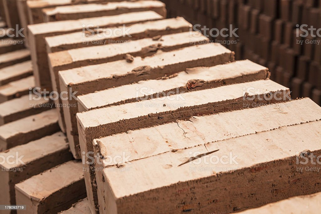 brick mold drying royalty-free stock photo