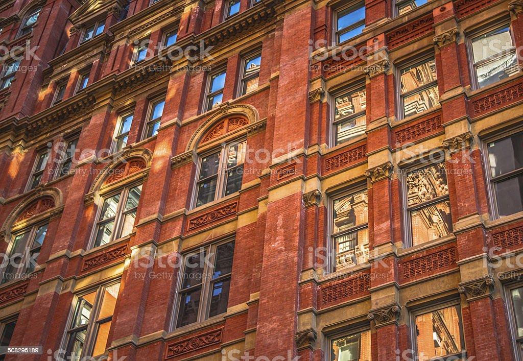 Brick Office Facade Manhattan stock photo