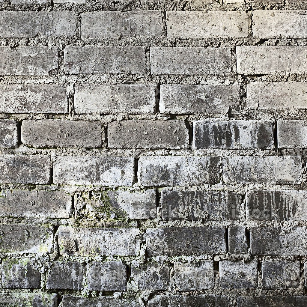 Brick old grunge mouldy wall background royalty-free stock photo