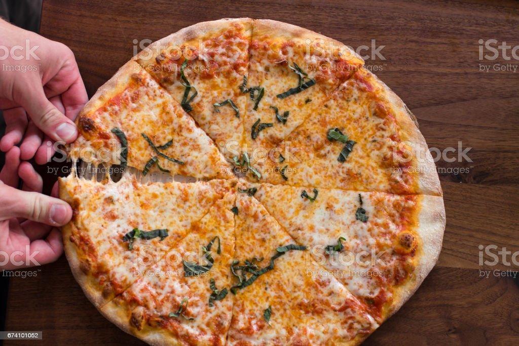 Brick Oven Pizza royalty-free stock photo