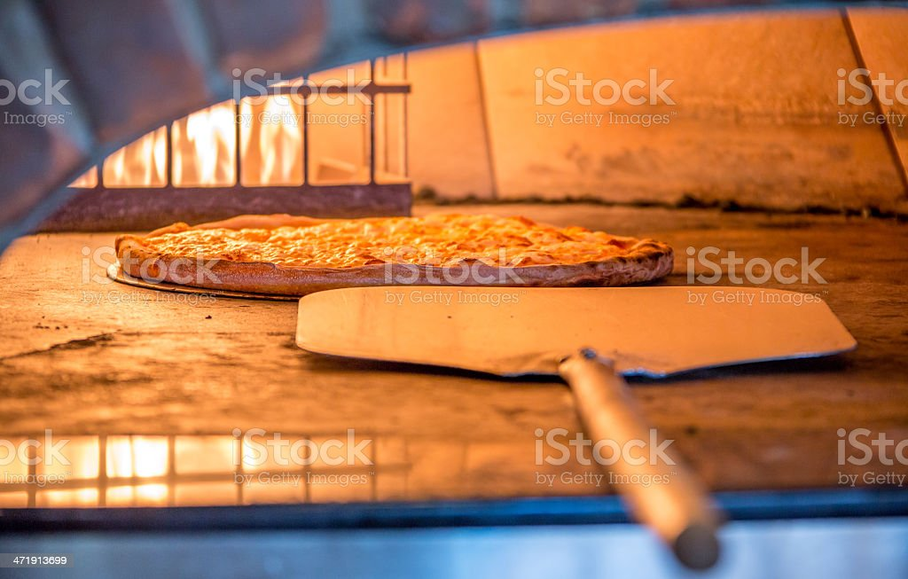 Brick Oven Pizza Ready stock photo