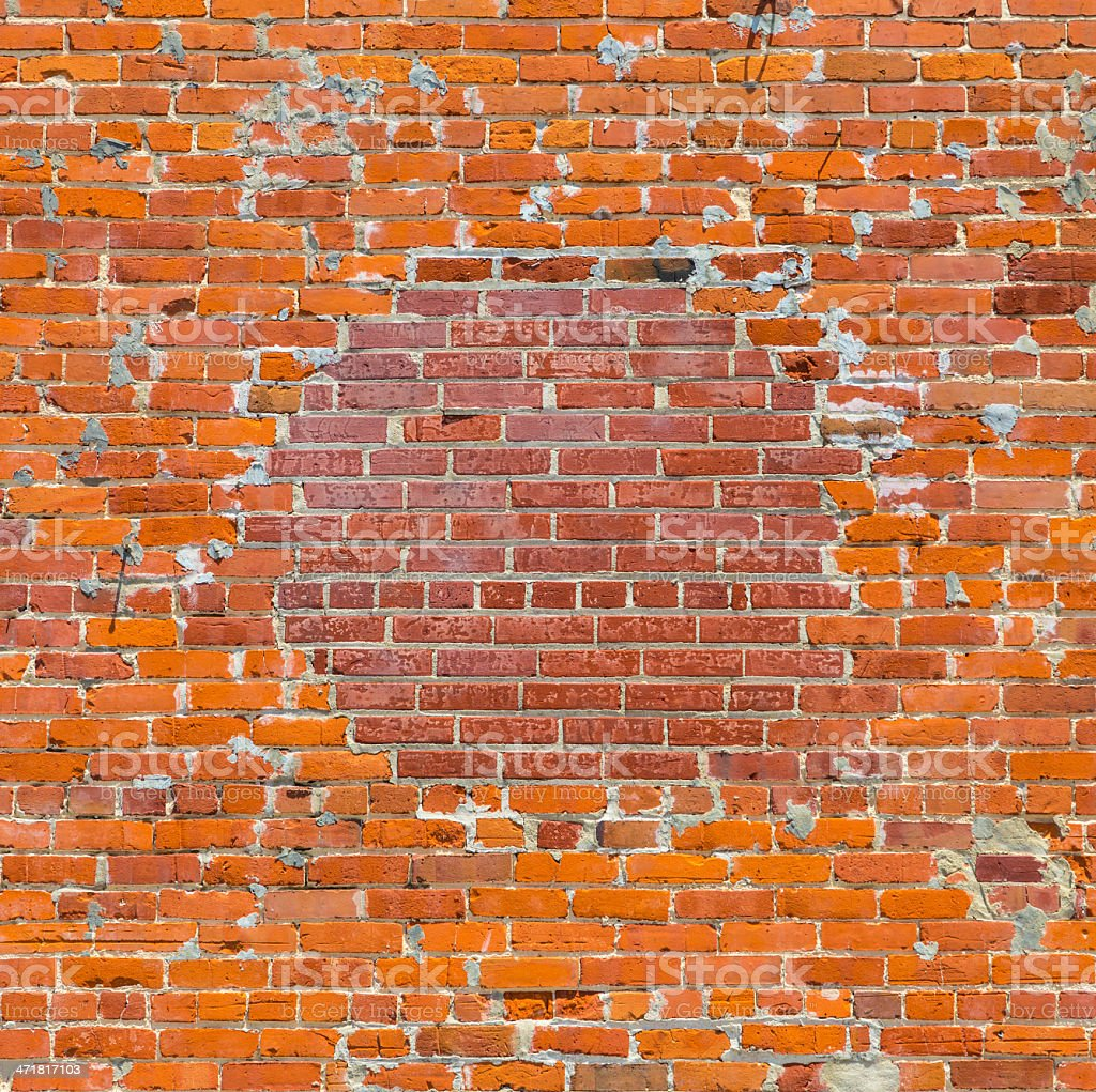 brick pattern at the wall with two kind of bricks royalty-free stock photo