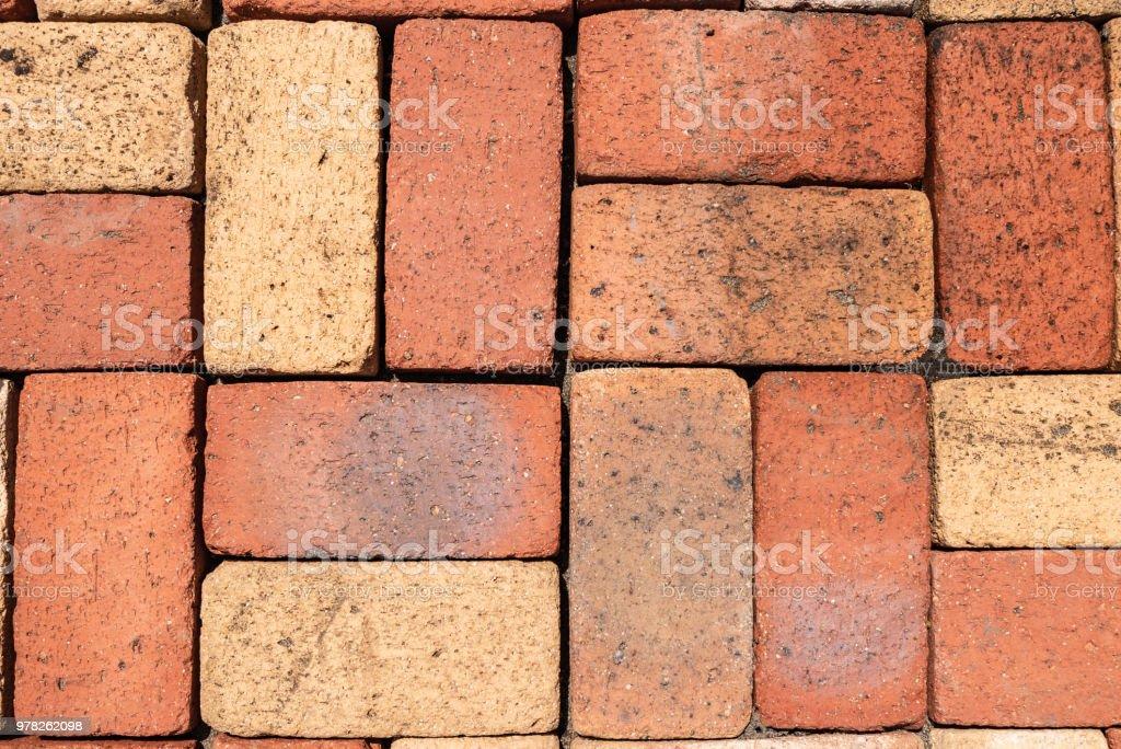 brick pattern floor tile texture material stock photo