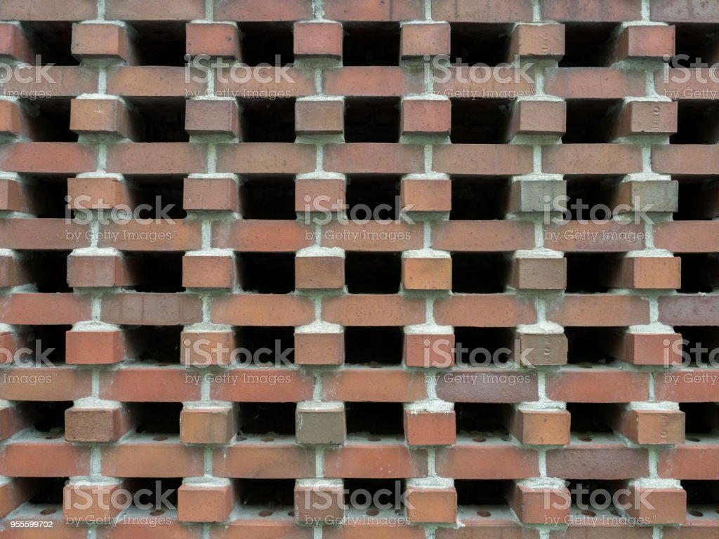 Brick pattern of black holes stock photo