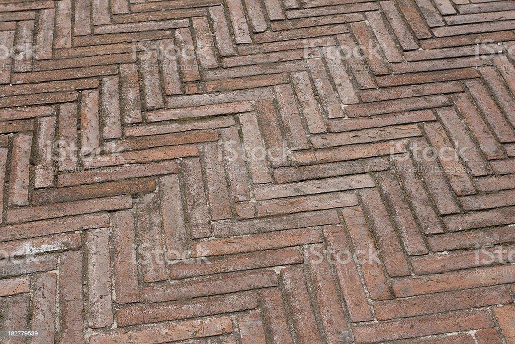 Brick pavement royalty-free stock photo