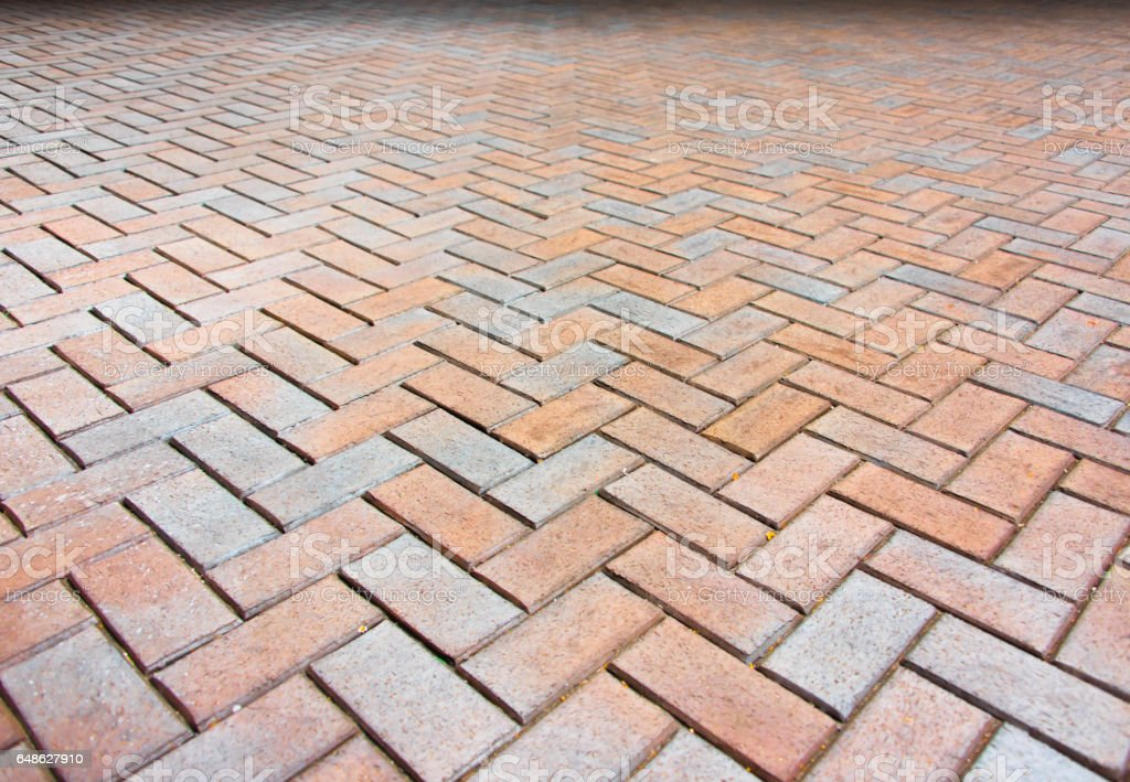 Brick Pavement with Dark Top stock photo