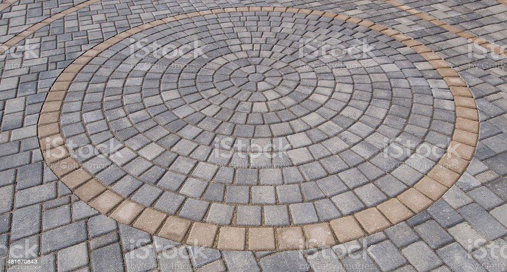 Brick Paver Circle royalty-free stock photo