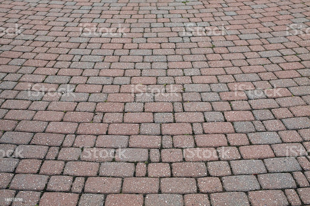 Brick pavers (Red and grey) stock photo