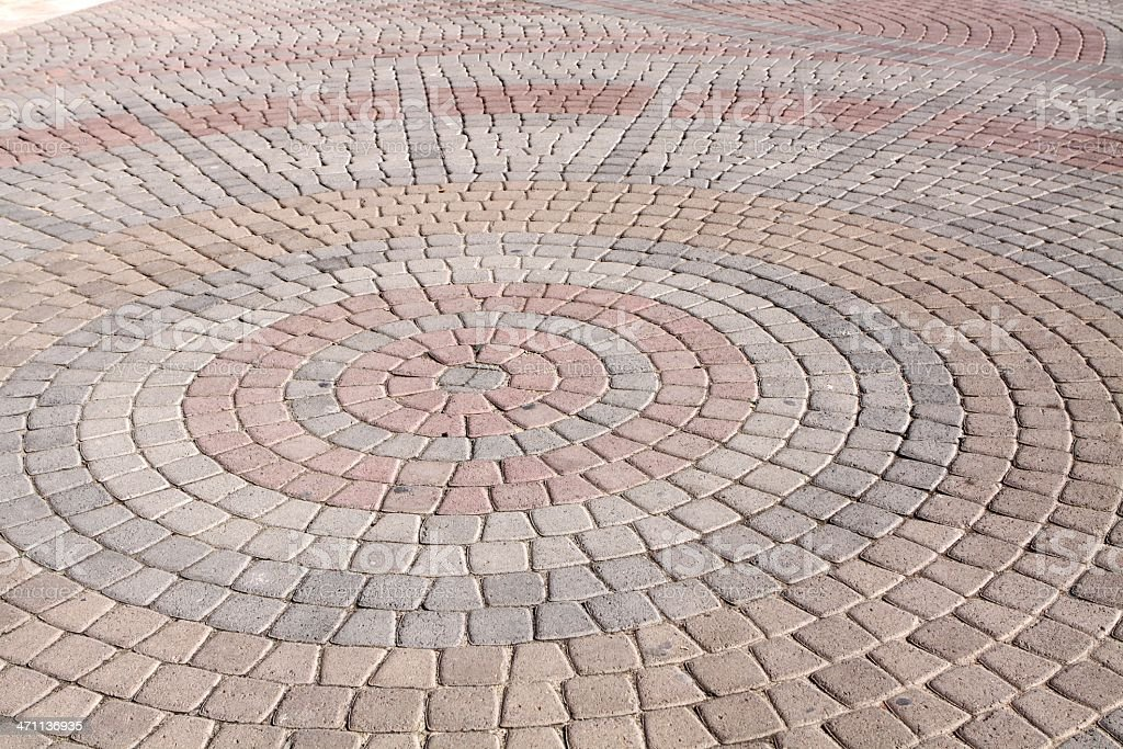 Brick pavers royalty-free stock photo