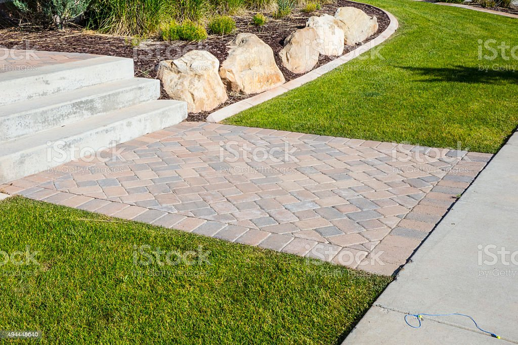 Brick Pavers stock photo