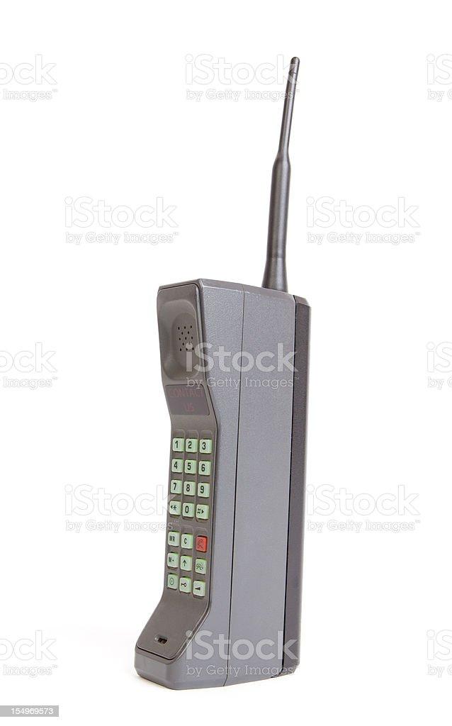 Brick phone stock photo