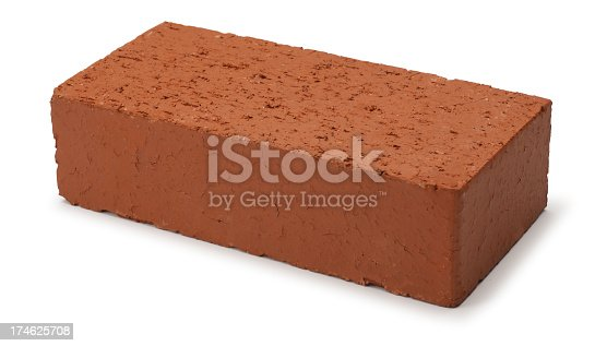 A brick on a white background