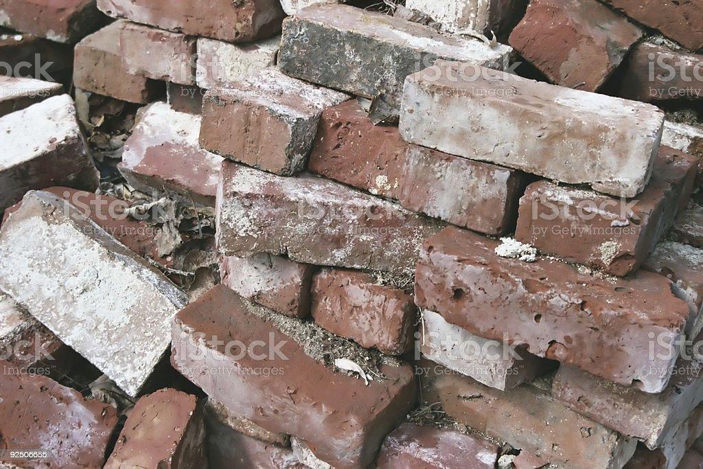 Brick Pile royalty-free stock photo