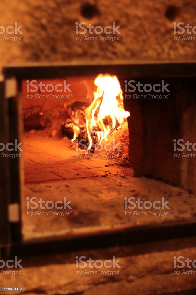 Brick Pizza Oven stock photo