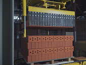 Brick production, hollow ceramic bricks factory. Brick production, bricks factory.