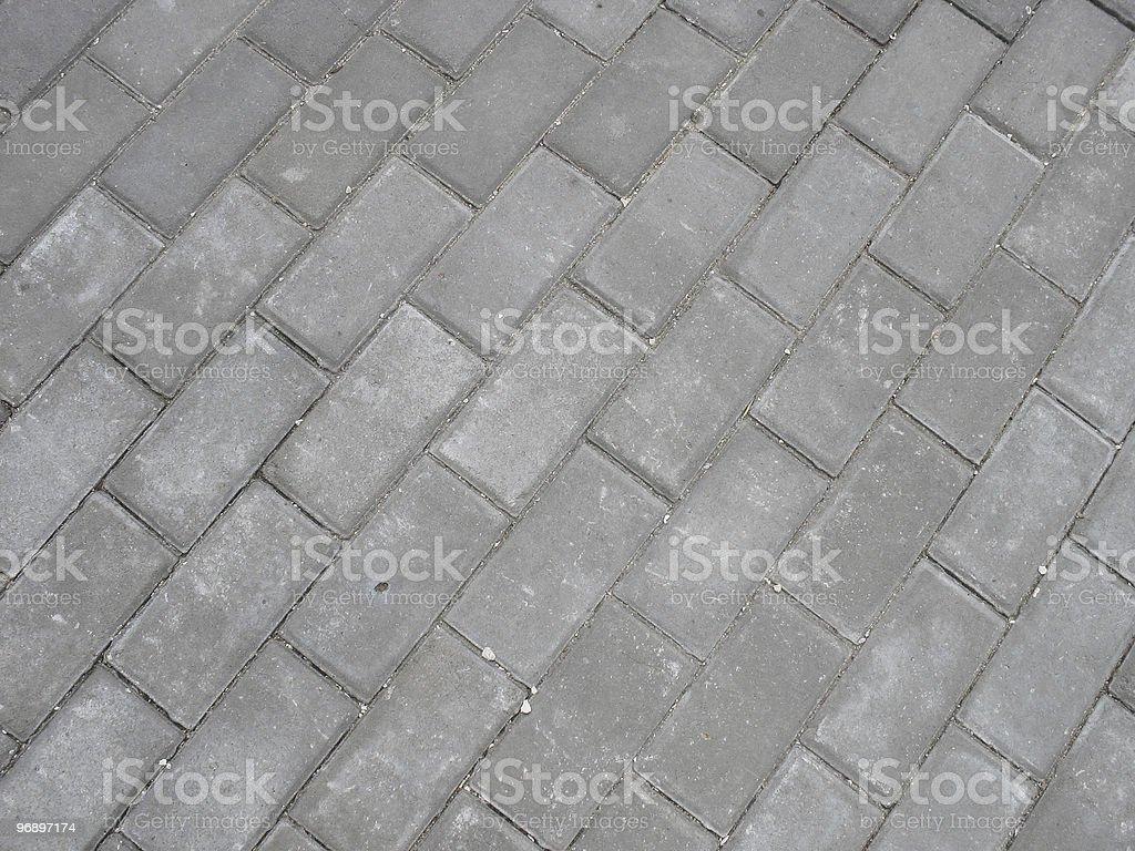 Brick roadway. royalty-free stock photo