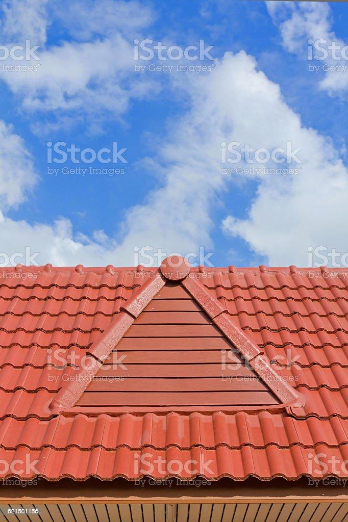 Brique sur le toit photo libre de droits