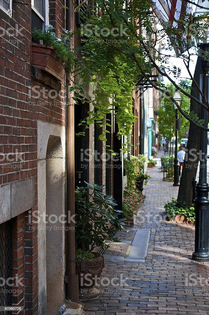 brick Gehweg Lizenzfreies stock-foto
