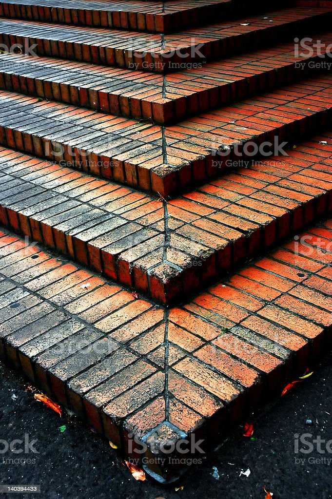 Brick Steps royalty-free stock photo