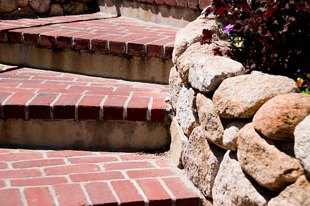 Brick Steps stock photo