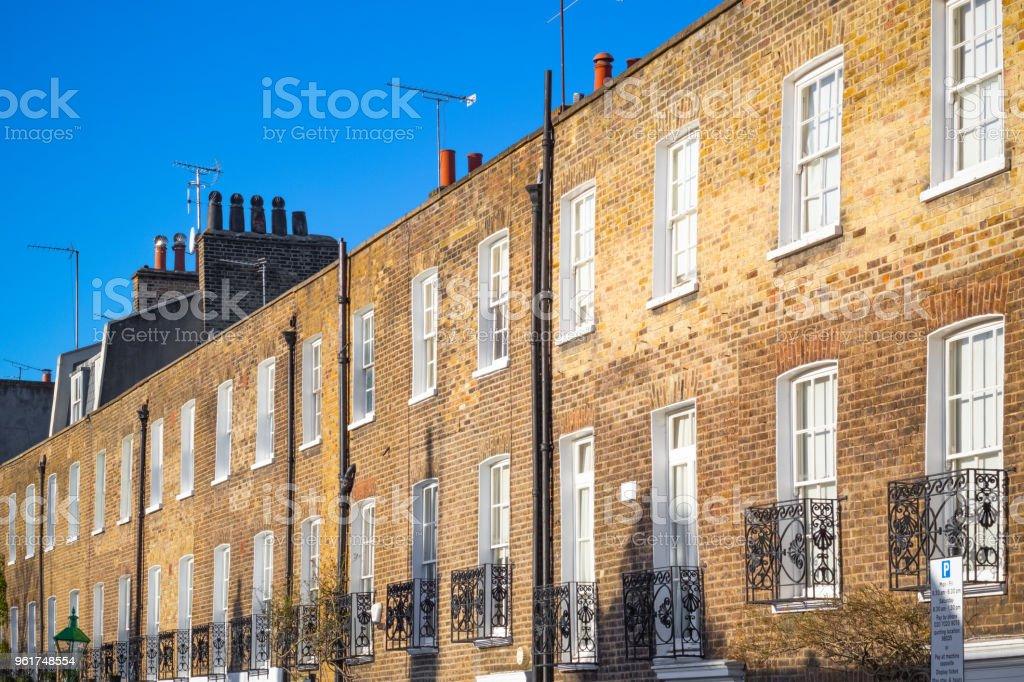 Casas De La Terraza De Ladrillo Alrededor De Chelsea En