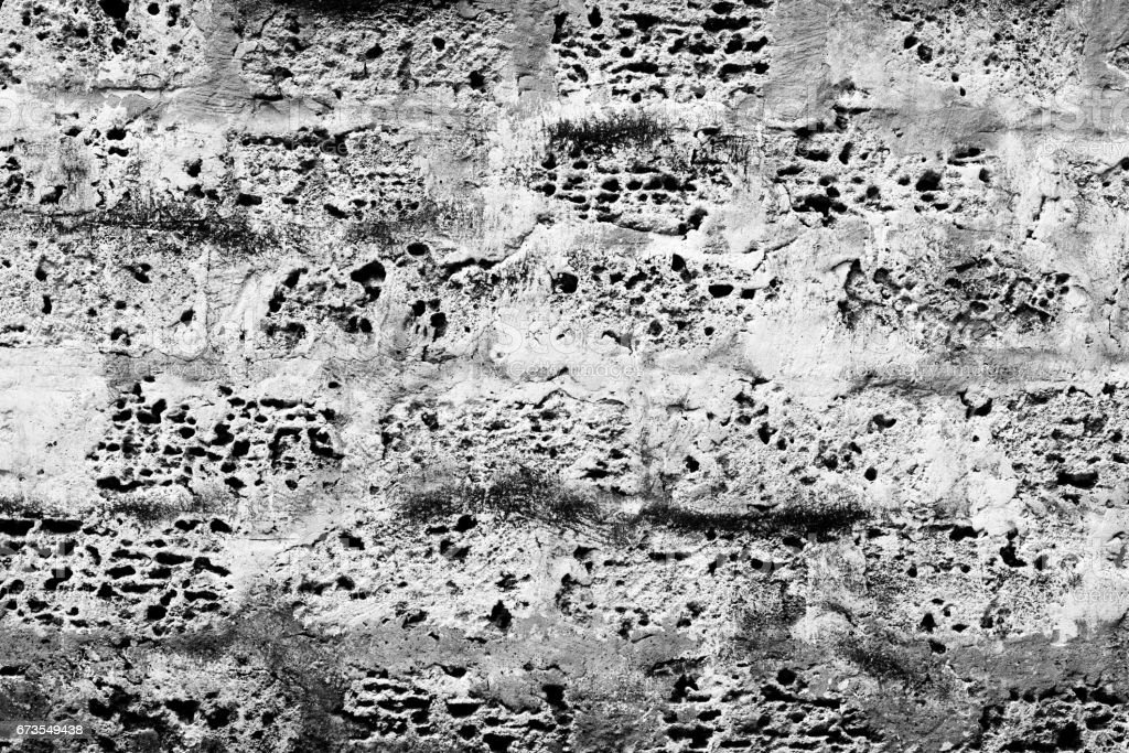 Brick texture with scratches and cracks royalty-free stock photo