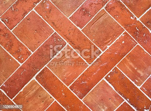 Bricks like tiled floor