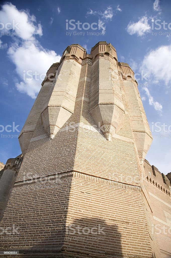 brick tower of coca castle royalty-free stock photo