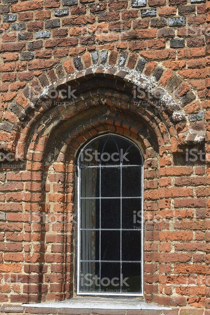 Brick Tudor window royalty-free stock photo
