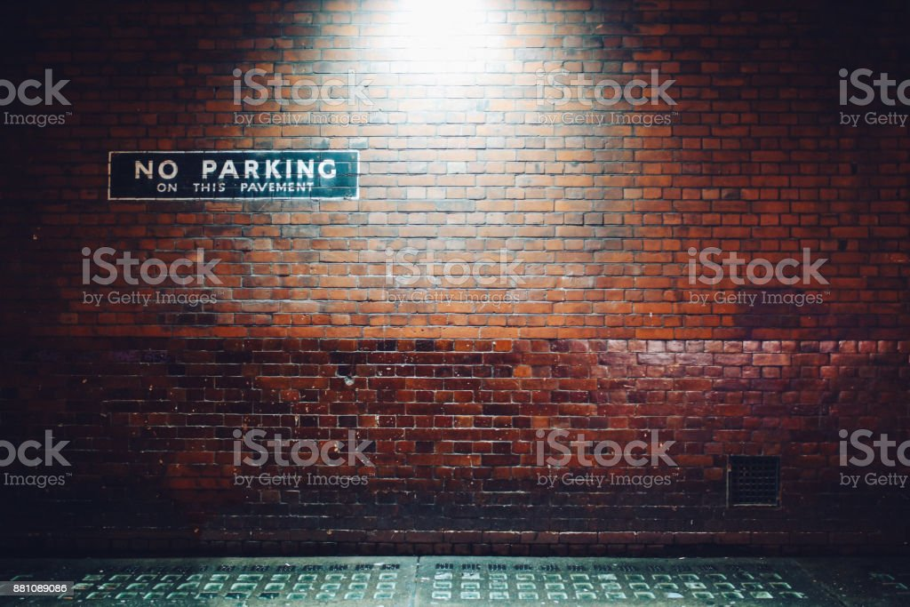 Brick wall and empty copy space in London stock photo