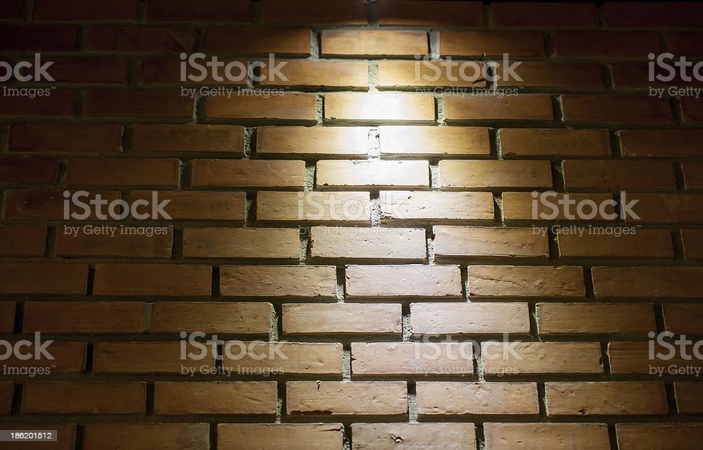 brick wall and lighting royalty-free stock photo