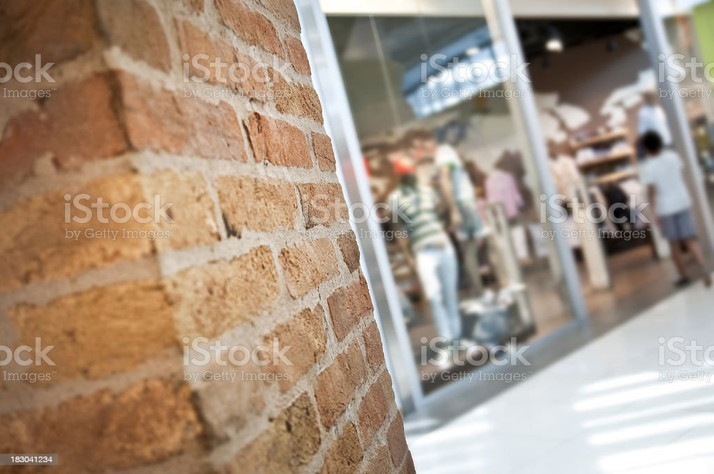 Brick Wall and reatil window royalty-free stock photo