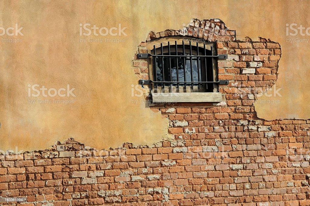 Brick Wall and Window stock photo