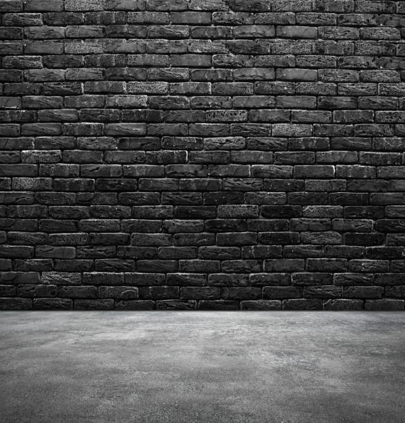 Brick wall and wooden floor Brick wall and sidewalk cement floor stock pictures, royalty-free photos & images