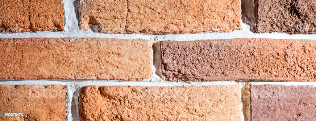 Brick wall artificial stone decor element for interior zbiór zdjęć royalty-free