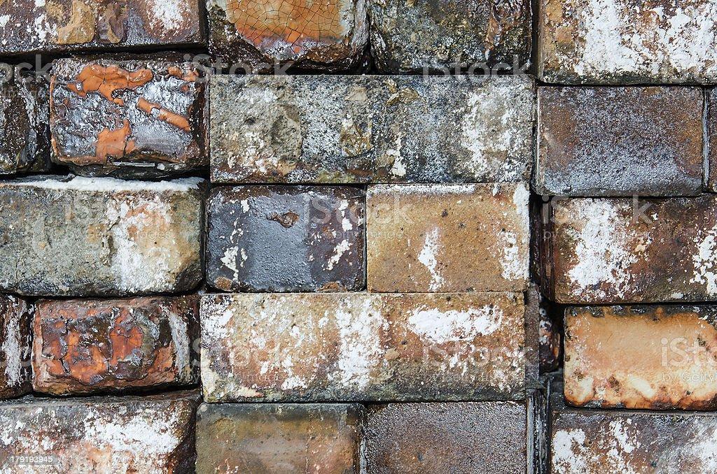Brick wall as wallpaper stock photo