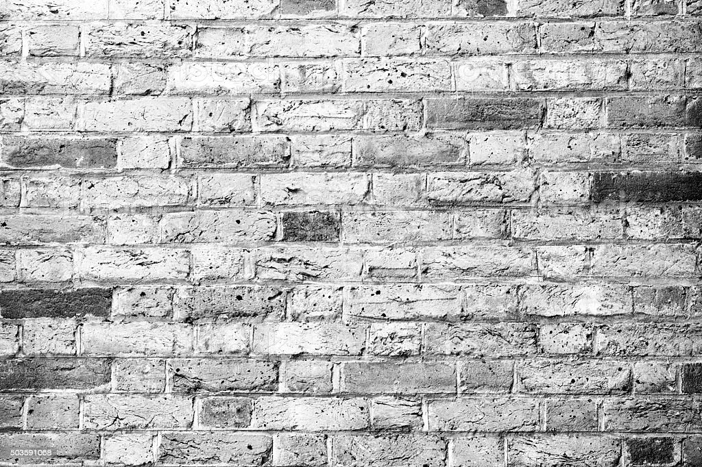 Brick Wall Background Black And White With Copy Space ...