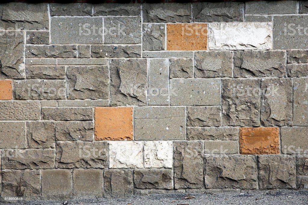 Mattoni Per Recinzione Giardino.Sfondo Muro Mattoni Recinzione Casa Giardino Stock Photo