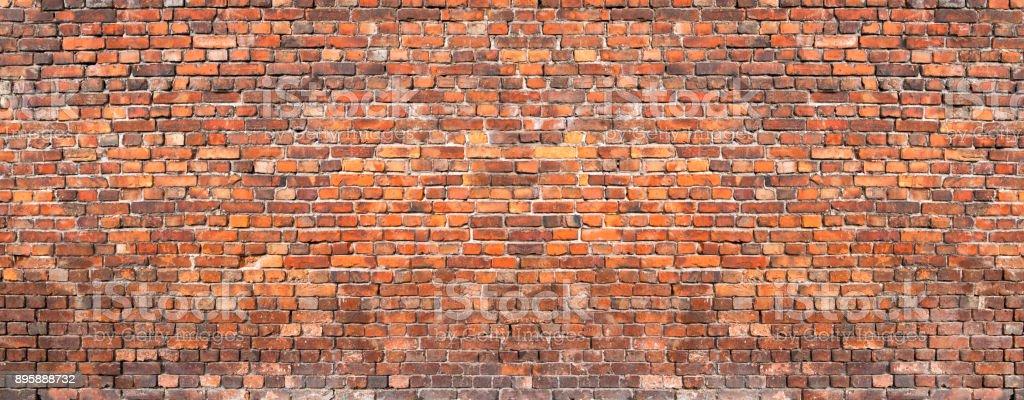 brick wall background, grunge texture brickwork old house stock photo